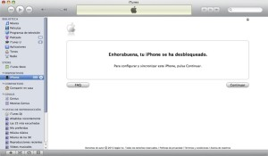 aviso itunes liberacion iphone