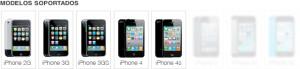 liberar iphone modelos soportados 4s